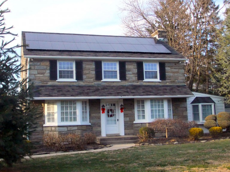 Sky Solar Solutions installed this 4.2 kW solar panel system in Plymouth Meeting, PA
