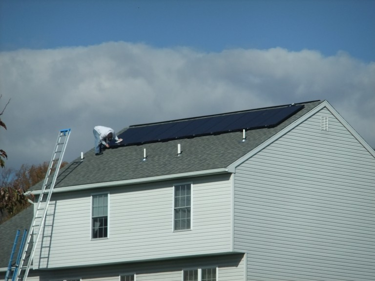Sky Solar Solutions installed a 10 panel array at this home in Douglassville, PA