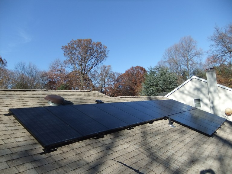 Sky Solar Solutions installed an 18 panel array at this home in Lafayette Hills, PA