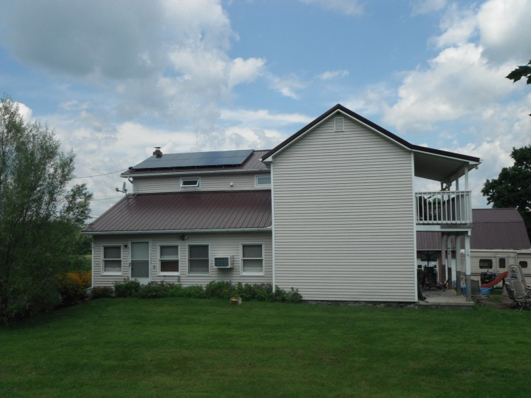 Sky Solar Solutions installed this 2.5 kW solar panel system on a metal roof in Allentown, PA