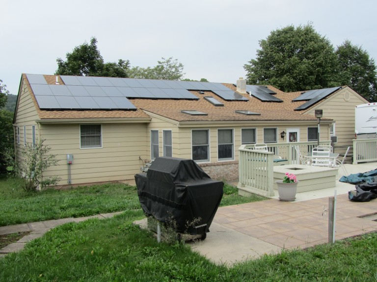Sky Solar Solutions installed this 7.2 kW solar panel system in East Greenville, PA