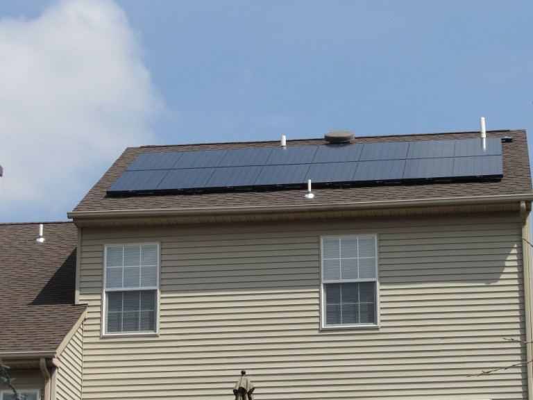 Sky Solar Solutions installed this 2.8 kW solar panel system in Collegeville, PA