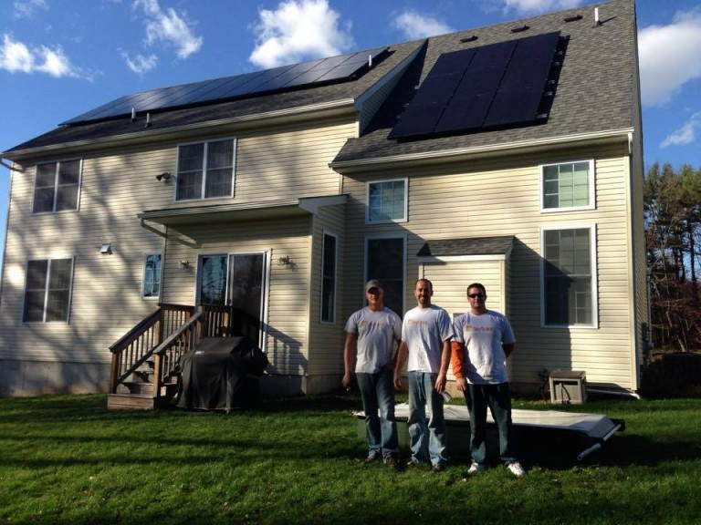 Sky Solar Solutions installed this solar PV array in Limerick, PA