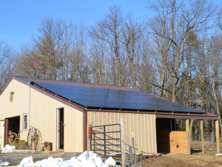 Sky Solar Solutions installed this 7.6 kW solar panel system in Benton, PA