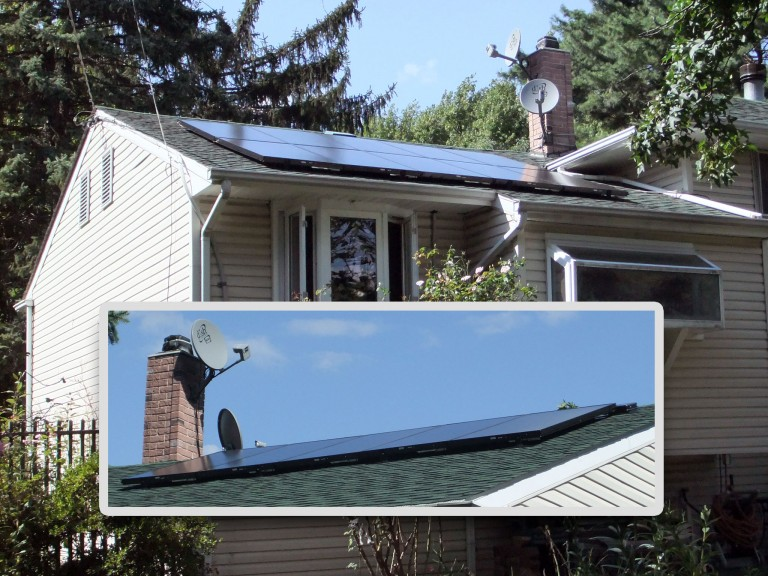 Sky Solar Solutions installed a 15 panel array at this home in Bensalem, PA