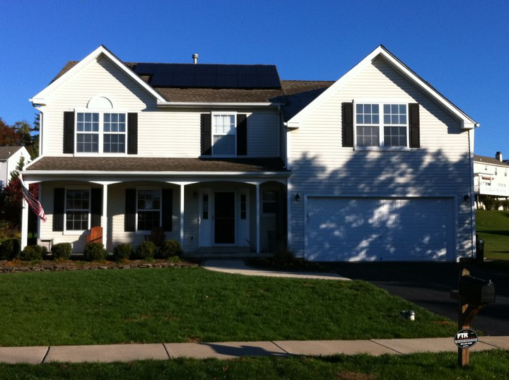 Sky Solar Solutions installed a 13 panel array at this home in Chester County, PA