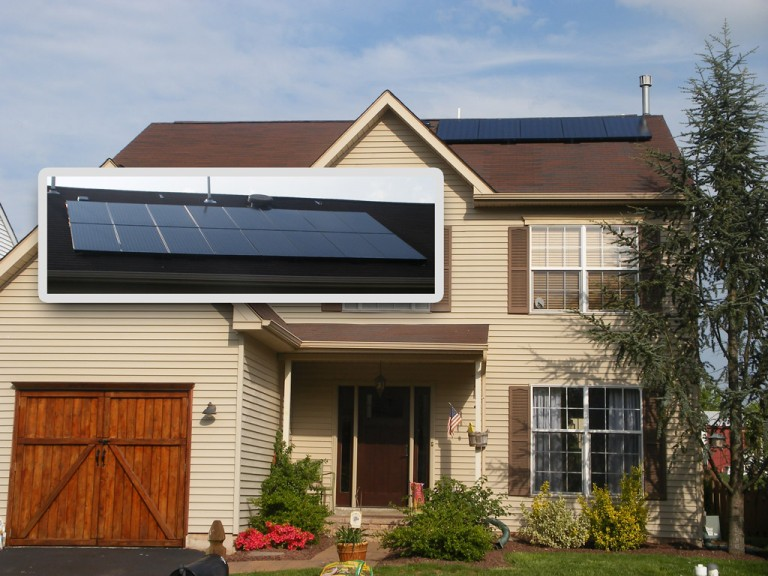Sky Solar Solutions installed a 21 panel array at this home in Collegeville, PA