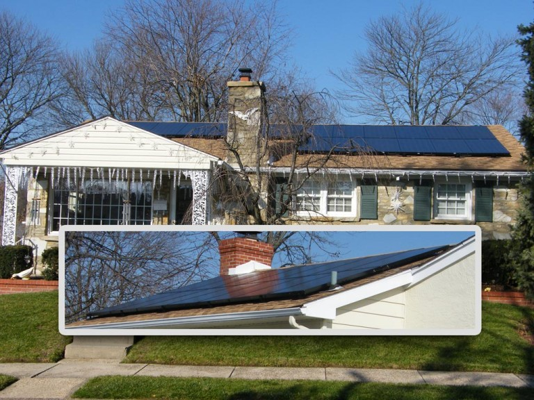 Sky Solar Solutions installed a 33 panel array at this home near Philadelphia, PA