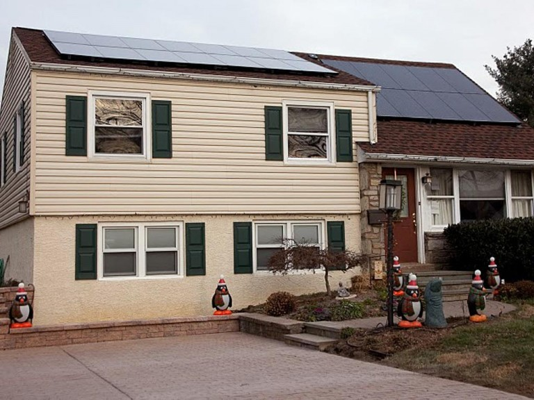 Sky Solar Solutions installed this 4.2 kW solar panel system in Oreland, PA (Montgomery County)