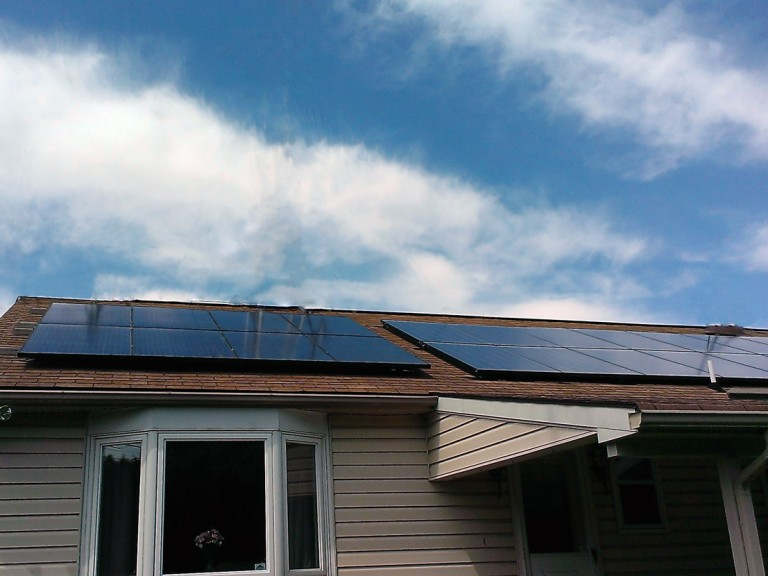 Sky Solar Solutions installed this panel array at a home in Allentown, PA