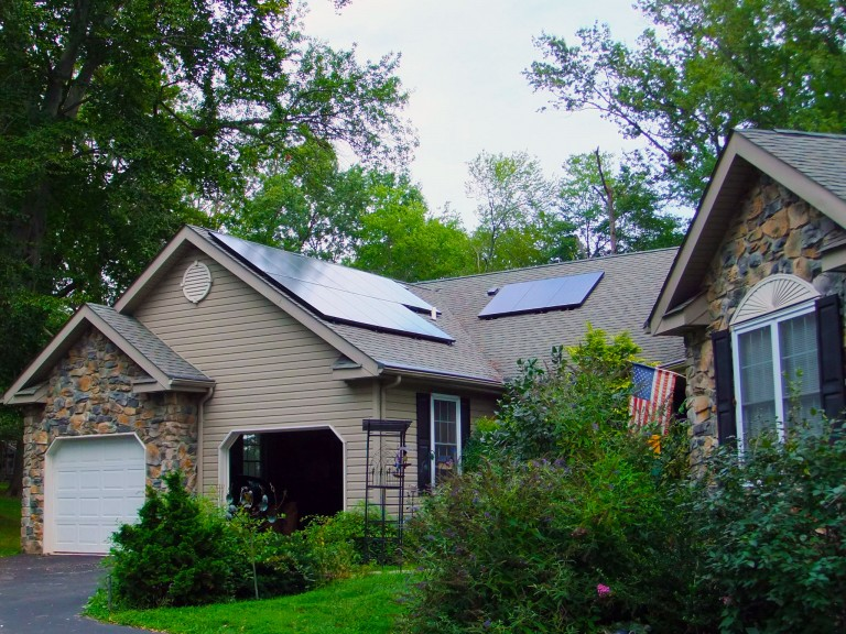 Sky Solar Solutions installed a 15 solar panel array at this home in Phoenixville, PA